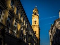 Igreja de Theatiner em Munich Imagem de Stock