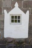 Igreja de Thorsted da janela, Dinamarca Imagem de Stock Royalty Free