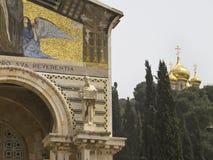 Igreja de todas as nações e igreja de Mary Magdalene imagens de stock royalty free