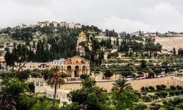 Igreja de todas as nações e igreja de Mary Magdalene Imagem de Stock Royalty Free