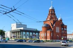 Igreja de trindade, Vladimir Academic Regional Drama Theater, Vladimir, Rússia fotos de stock