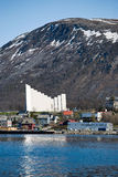 Igreja de Tromso Imagem de Stock Royalty Free