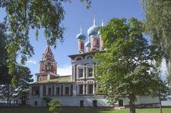 Igreja de Tsarevich Dmitri no sangue em Uglich Rússia imagem de stock