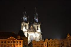 Igreja de Tyn em Praga fotografia de stock