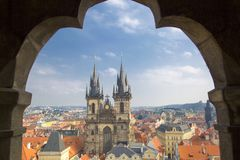 Igreja de Tyn em Praga Imagens de Stock Royalty Free