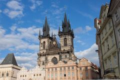 A igreja de Tyn em Praga Imagem de Stock