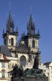 Igreja de Tyn - Praga - república checa Fotos de Stock Royalty Free