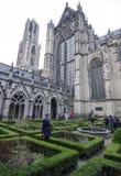 Igreja de Utrect da jarda interna durante o outono Foto de Stock