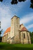 Igreja de Valjala, Saaremaa, Estónia fotos de stock royalty free