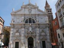 Igreja de Veneza - de San Moise foto de stock