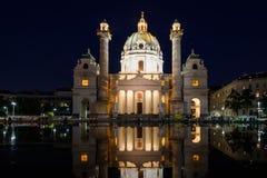 Igreja de Viena Karls imagem de stock