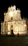 Igreja de Visitationist em Varsóvia (Polônia) na noite Imagens de Stock