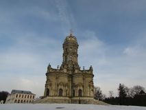 Igreja de Znamenskaya em Dubrovitsy imagem de stock
