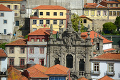 Igreja a Dinamarca Misericórdia, cidade velha de Porto, Portugal Imagem de Stock Royalty Free