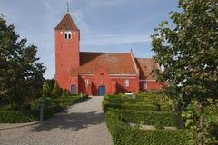 Igreja dinamarquesa vermelha Imagens de Stock Royalty Free