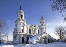 A igreja do ícone da mãe do deus de Vladimir Bykovo, fotos de stock