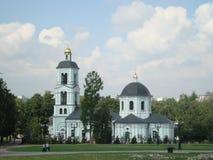 Igreja do ícone da mola animador do Virgin no parque de Tsaritsyno Fotografia de Stock