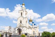 Igreja do ícone de Kazan da mãe do deus em Rostov-On-Don imagens de stock royalty free