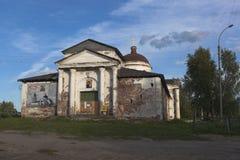 Igreja do ícone de Kazan do Theotokos na cidade Kirillov, região de Vologda, Rússia imagem de stock
