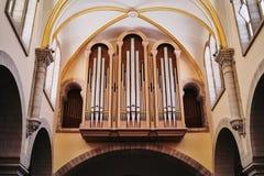 Igreja do órgão de tubulação da natividade Bethlehem fotografia de stock royalty free