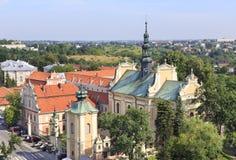 Igreja do arcanjo Michael do St em Sandomierz, Polônia Imagem de Stock Royalty Free
