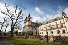 Igreja do bispo de StStanislaus Construído 1472, em 1733-1751 a igreja recebeu uma decoração barroco Fotos de Stock Royalty Free