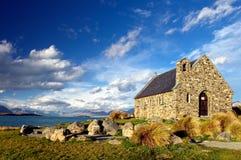 Igreja do bom Sheperd, lago Tekapo Fotografia de Stock