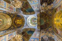 Igreja do Bood derramado, St Petersburg, Rússia Imagem de Stock