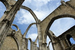 Igreja do Carmo. Carmelite church in Lisbon, Portugal stock photography