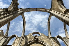 Igreja do Carmo. Carmelite church in Lisbon, Portugal royalty free stock photo