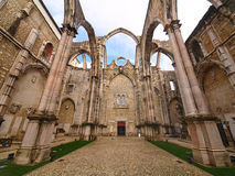 Igreja do Carmo. Ruin of the Igreja do Carmo church in Lisbon, Portugal Stock Photo