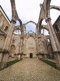 Igreja do Carmo. Ruin of the Igreja do Carmo church in Lisbon, Portugal Stock Photography