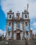 Igreja do Carmo church city architecture street Portugal royalty free stock image
