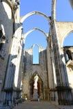 Igreja do Carmo, Lisbon, Portugal Stock Photos
