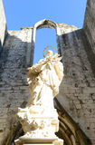 Igreja do Carmo, Lisbon, Portugal Royalty Free Stock Photography