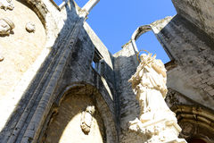 Igreja do Carmo, Lisbon, Portugal Stock Photos