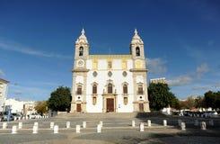 Baroque Carmo Church Igreja do Carmo in Largo do Carmo, Faro, Algarve region in southern Portugal, Europe. The Igreja do Carmo with a spectacular Baroque faç royalty free stock image