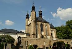 Igreja do cemitério de Sedlec do Ossuary de todos os Saint em Kutna Hora, República Checa Imagem de Stock