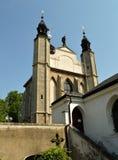 Igreja do cemitério de Sedlec do Ossuary de todos os Saint em Kutna Hora, República Checa Foto de Stock