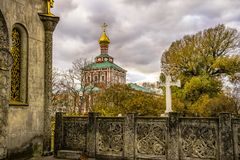 Igreja do conjunto do convento de Novodevichy - mundo do UNESCO Fotos de Stock