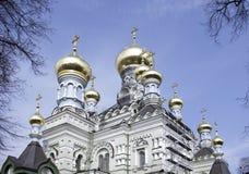 A igreja do convento santamente da proteção em Kiev Foto de Stock Royalty Free