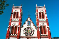 Igreja do coração de Cacred em Pondicherry fotografia de stock