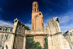 A igreja do Cordeliers, Toulouse, França fotografia de stock