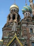 Igreja do de Vasiliy abençoado em St Petersburg Fotos de Stock Royalty Free