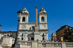 A igreja do dei Monti de Santissima Trinita Imagem de Stock Royalty Free