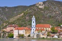 Igreja do durnstein, Áustria imagem de stock