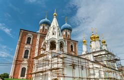 Igreja do esmagamento, monastério da transfiguração no Kremlin de Ryazan em Rússia fotografia de stock royalty free