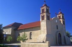 Igreja do estuque na estrada a Taos, nanômetro imagens de stock royalty free