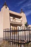 Igreja do estuque na estrada a Taos, nanômetro foto de stock