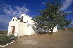 Igreja do estuque na estrada a Taos, nanômetro fotos de stock
